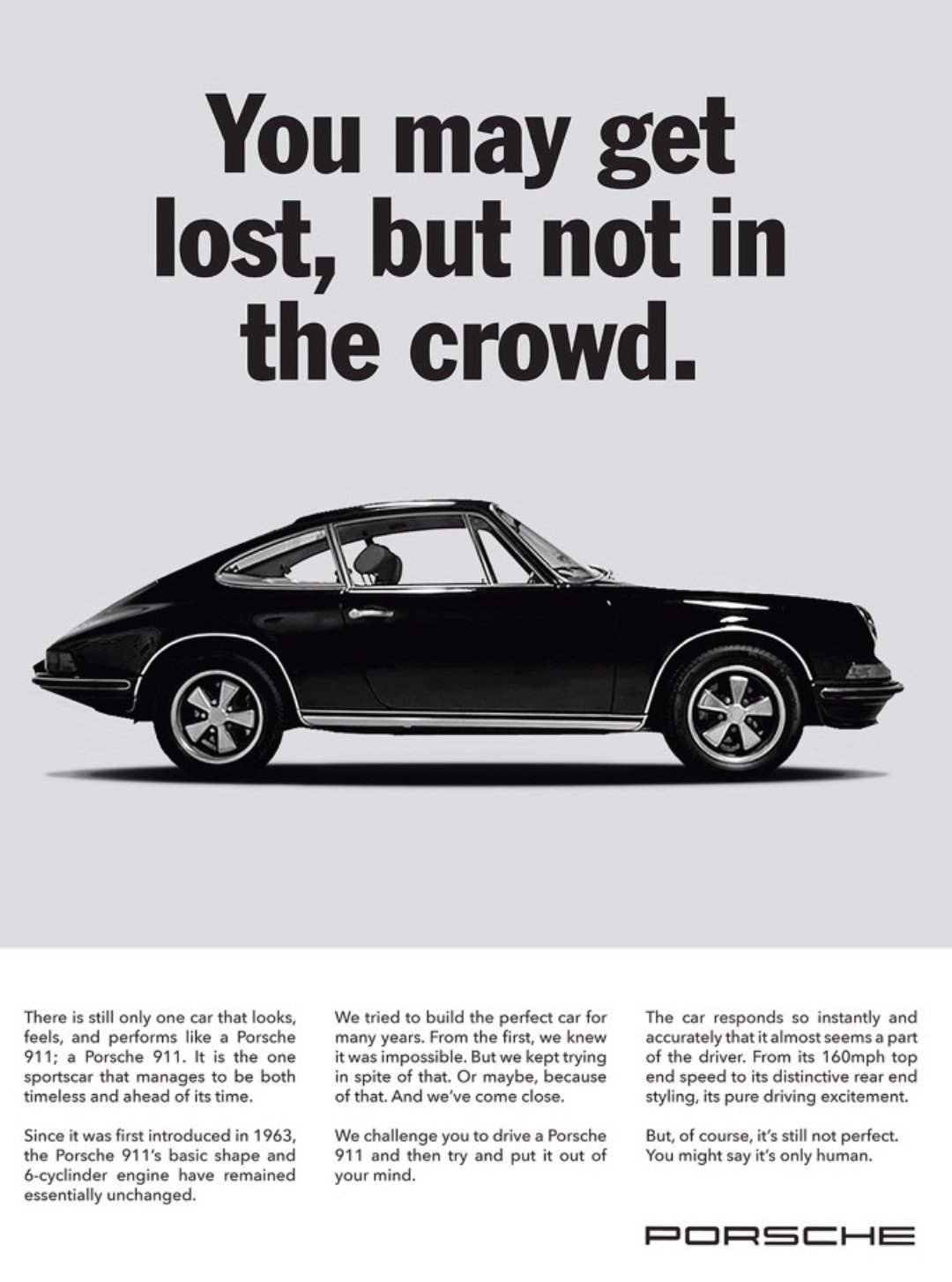 The Best Porsche Ads of All Time: You May Get Lost