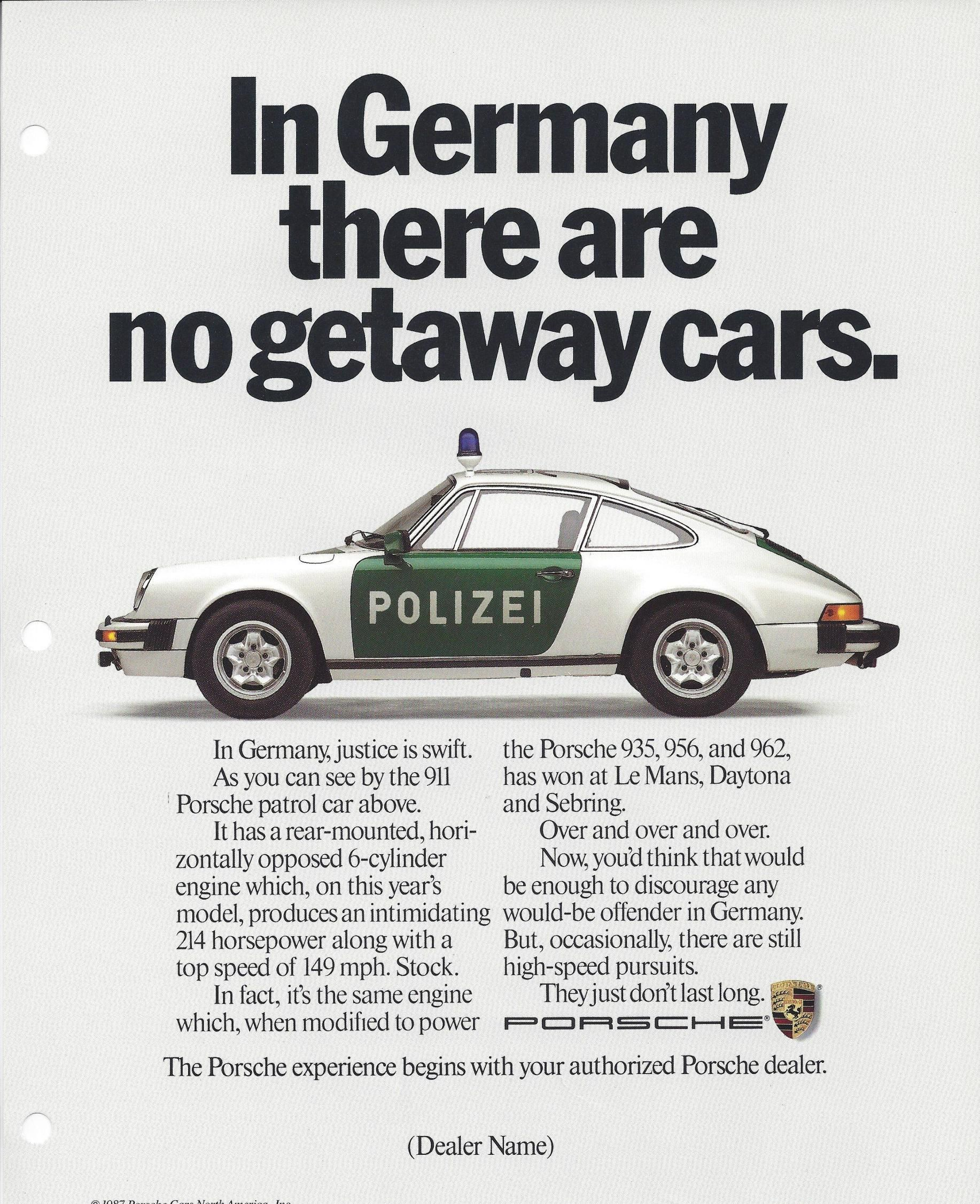 The Best Porsche Ads of All Time: In Germany, There Are No Getaway Cars